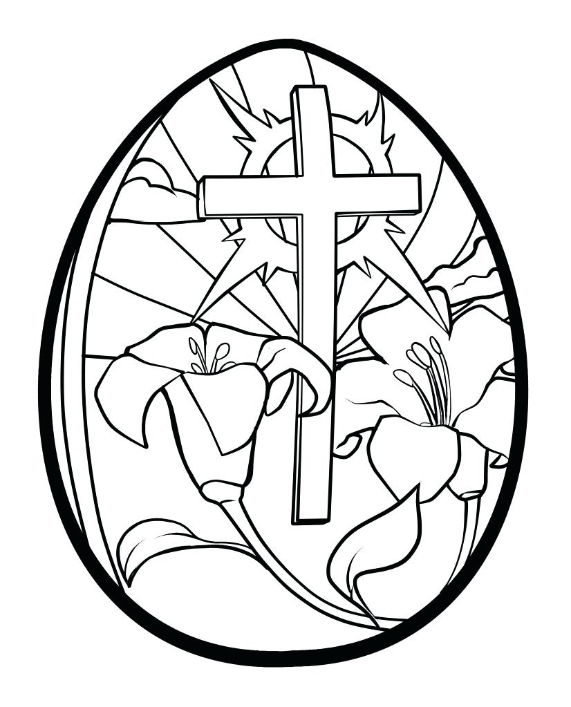 826x1023 Printable Religious Easter Art Printable Egg Coloring Pages