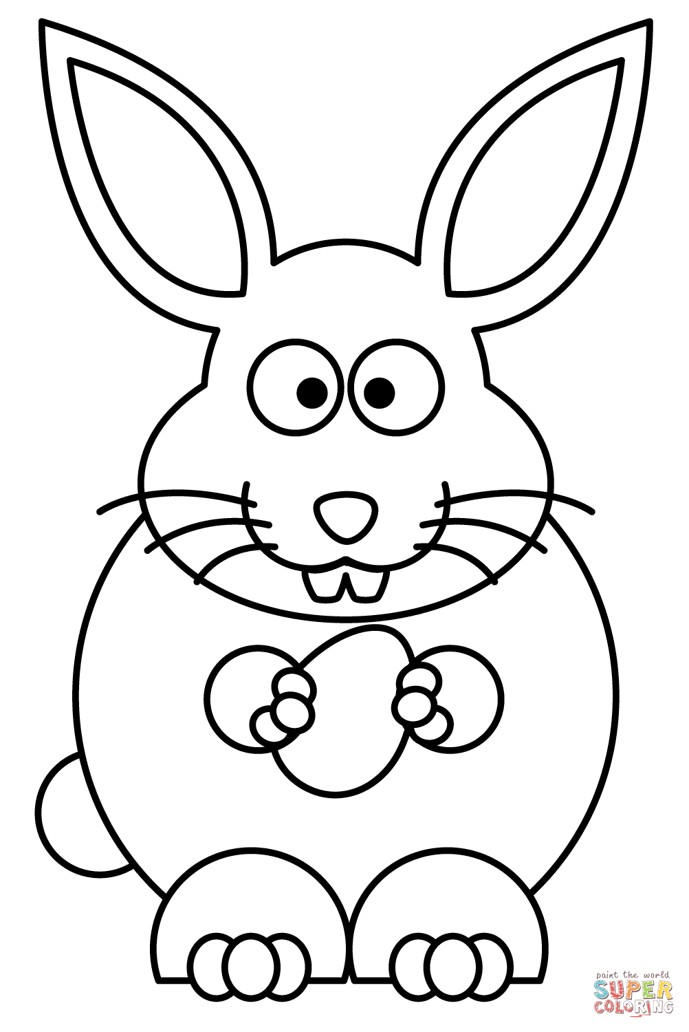 1002x1500 Easter Rabbit With Egg Coloring Page Free Printable Coloring Pages