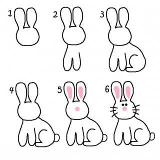 320x320 Tag For Drawing Rabbit Pics Photos Learn How To Draw A Rabbit