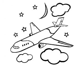 Easy Airplane Drawing