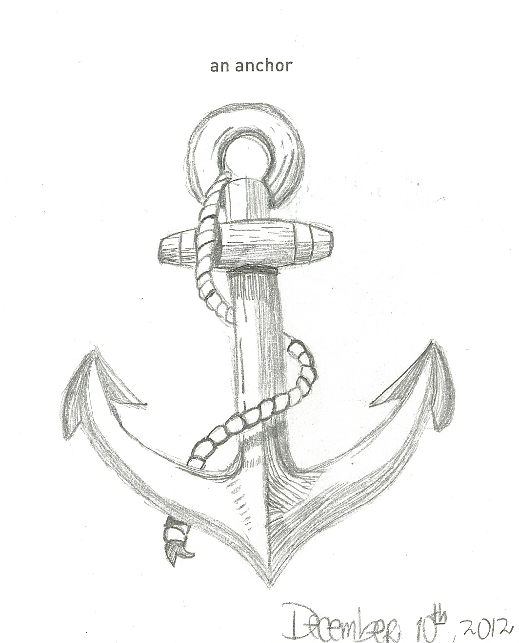 Easy Anchor Drawing