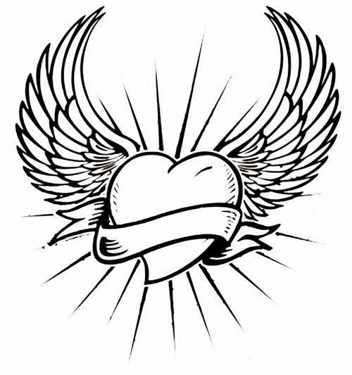 Easy Angel Wings Drawing