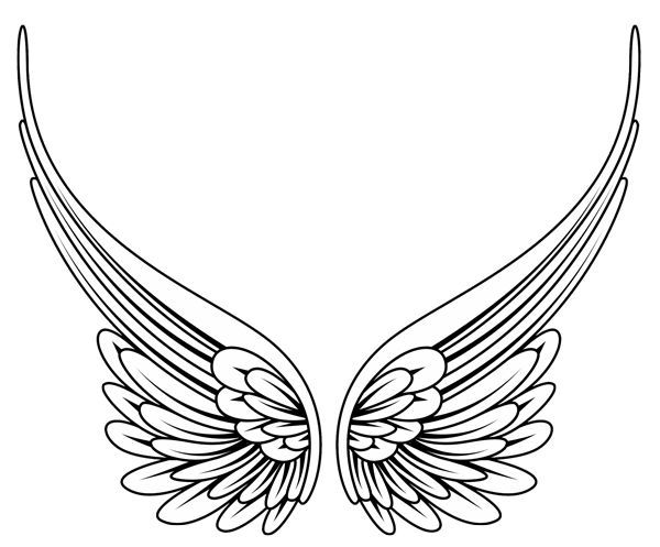 600x497 simple angel wings tattoo designs elaxsir