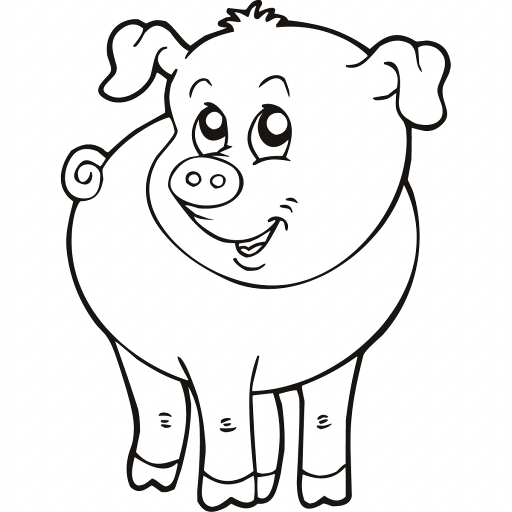 1024x1024 Easy Animal Drawing For Kids Farm Animal Drawings Clipartsco