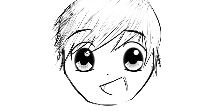 900x460 Anime Boy Face By Mrfiggleston