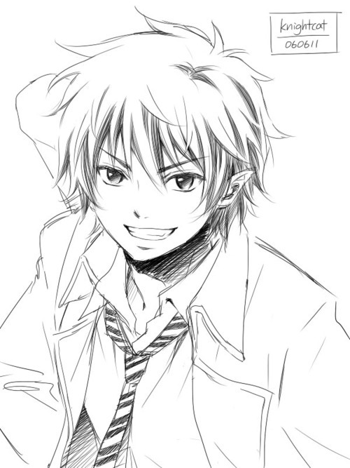 500x667 How To Draw Anime Boy Face No Timelapse. Anime Drawing Sketch