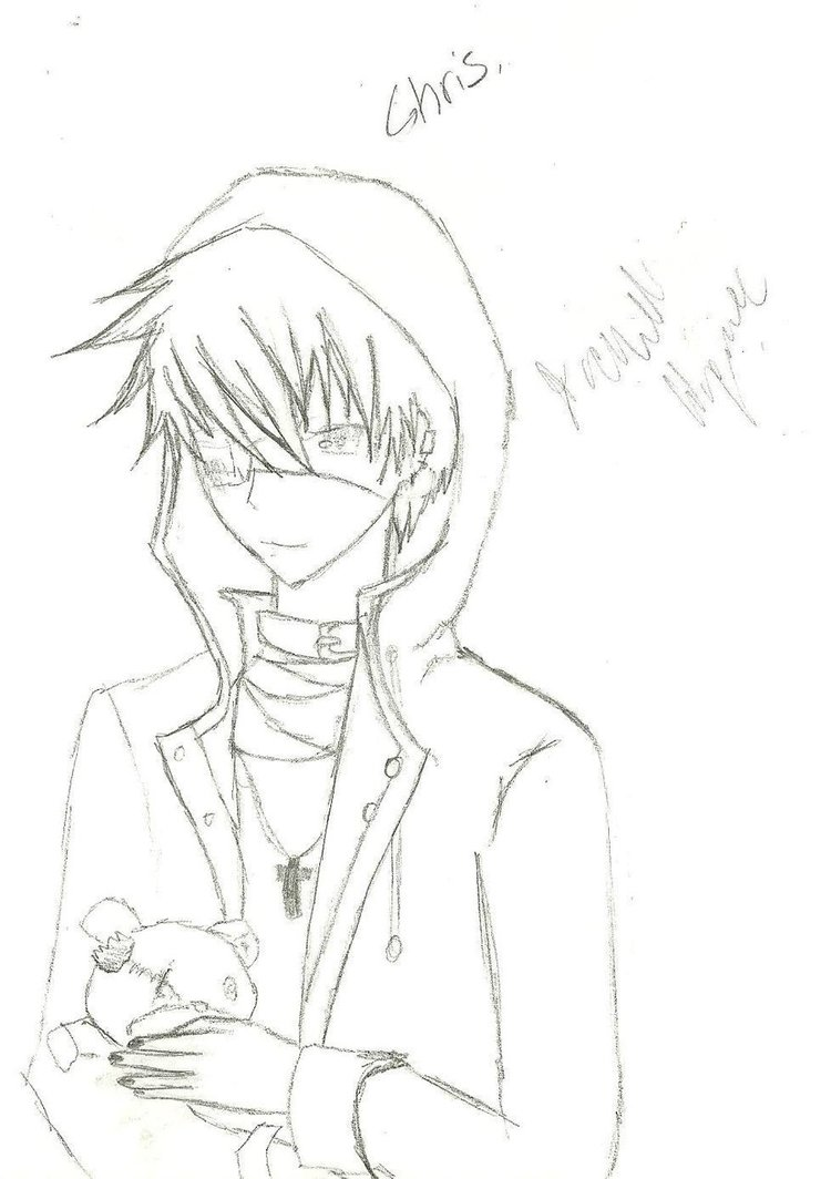 750x1064 Anime Guy Drawing 13 By Rayrayloser11