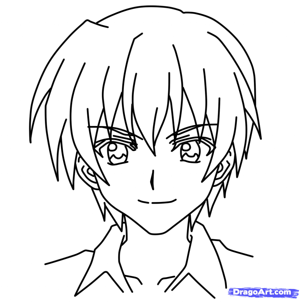 1024x1024 Easy Anime Drawings Easy Anime Characters To Draw