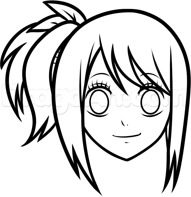 662x683 how to draw lucy easy step by step anime characters anime