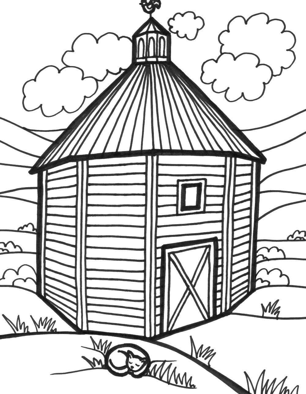 Easy Barn Drawing at GetDrawings.com   Free for personal use Easy ...