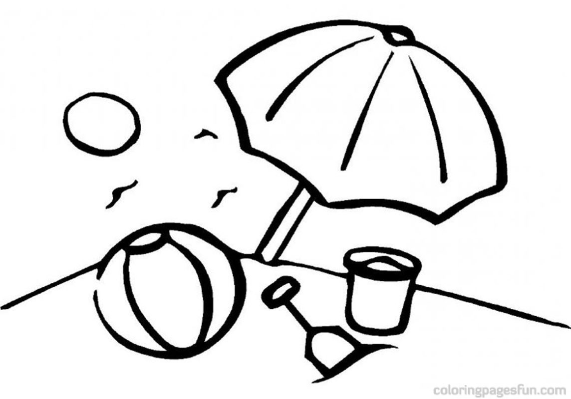 932x925 Beach Umbrella Coloring Pages 1144x800 Ball