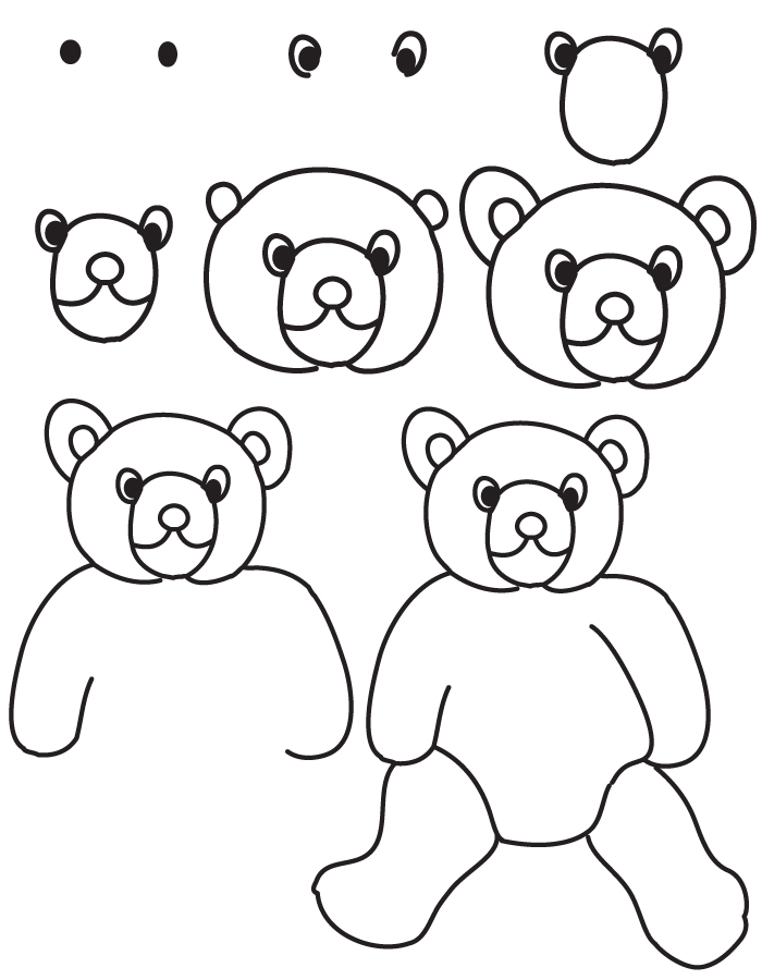 700x900 Image Result For Step By Step Teddy Bear Drawing Cartoon