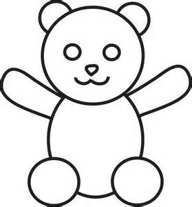 279x300 Early Play Templates Simple Teddy Bears To Colour, Stitch