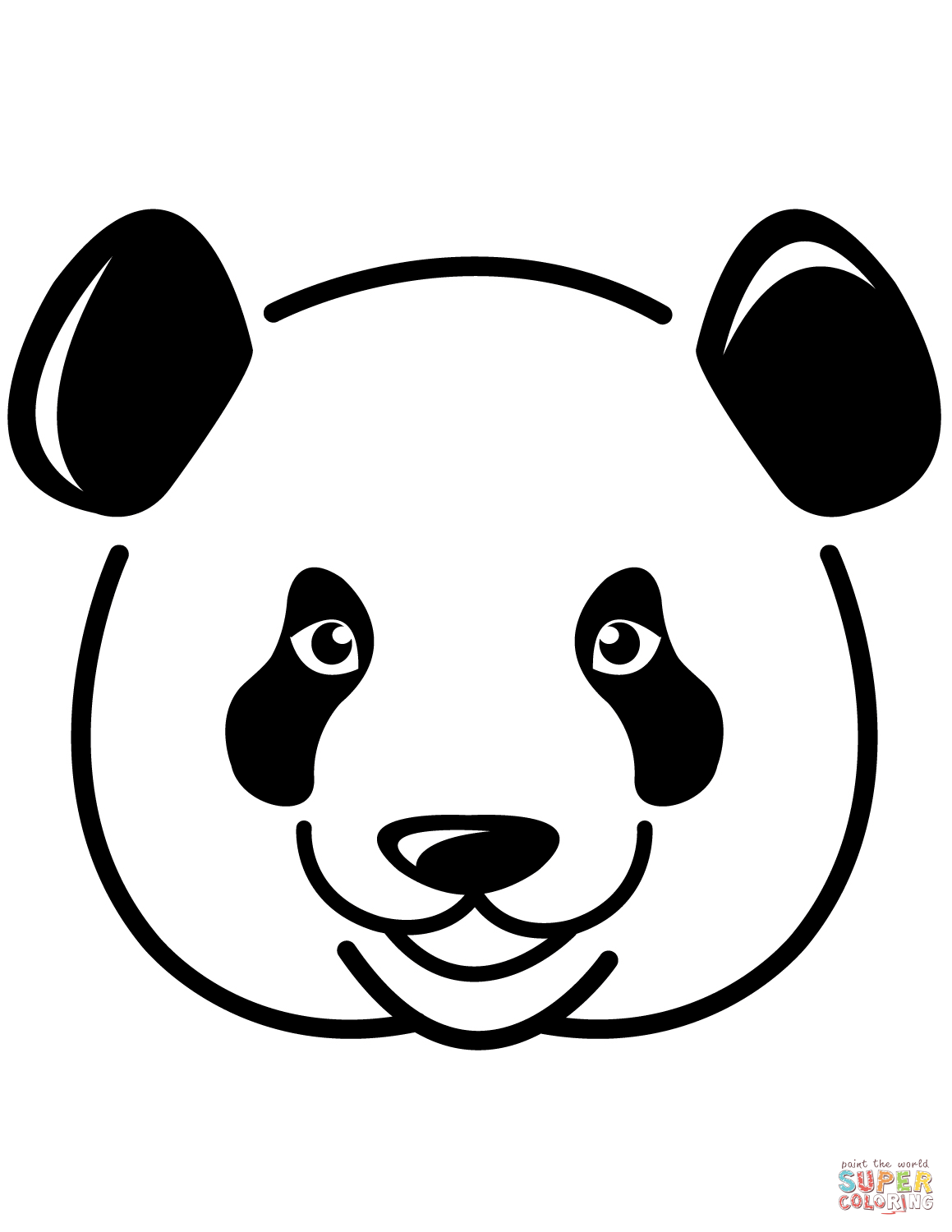 1159x1500 Pandas Face Coloring Page Free Printable Pages