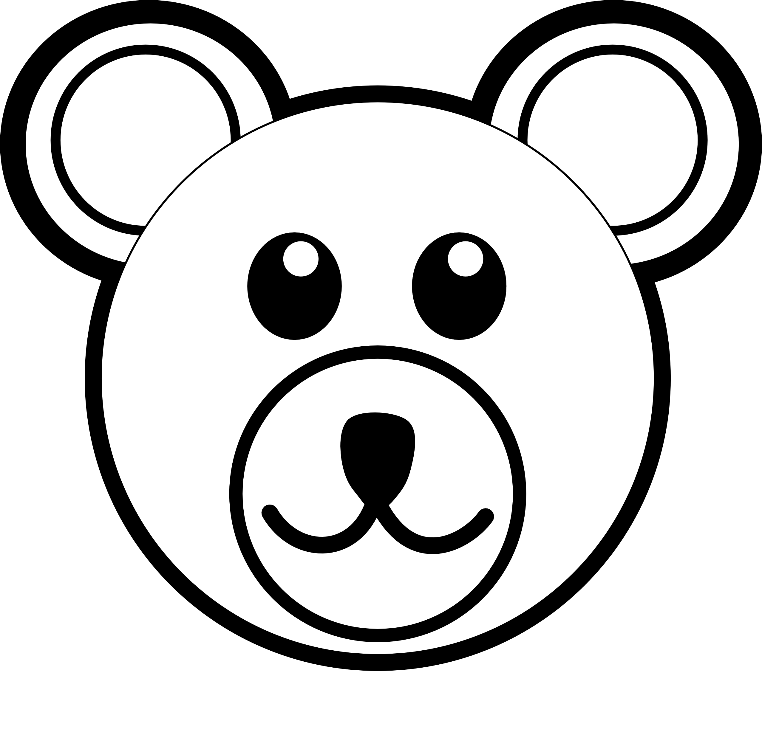Easy Bear Face Drawing at GetDrawings.com | Free for personal use ...