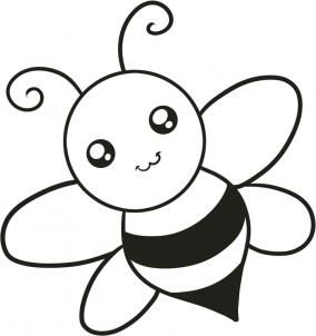 Easy Bee Drawing