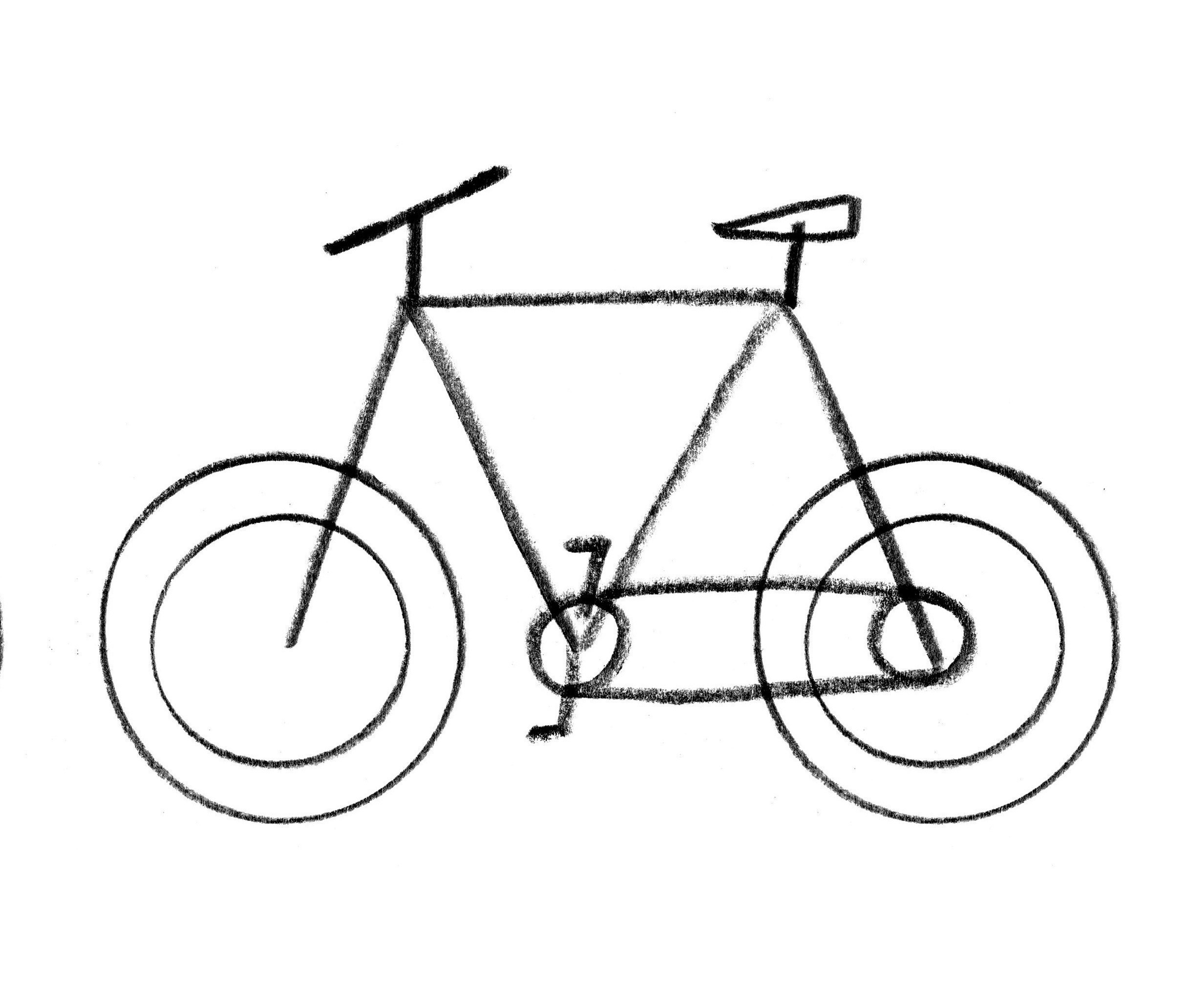 Easy Bicycle Drawing at GetDrawings.com   Free for personal use Easy ...