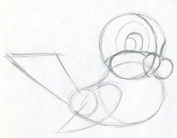 600x470 Learn To Draw Cartoon Bird Very Simple, In Few Easy Steps.