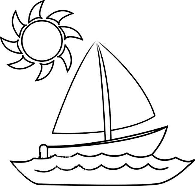 650x618 Sailboat Drawing For Kids Collection
