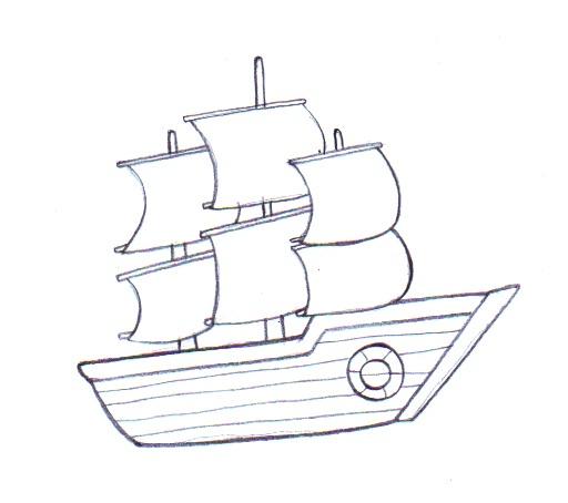 512x454 Ship Drawing Easy Sunglassesray