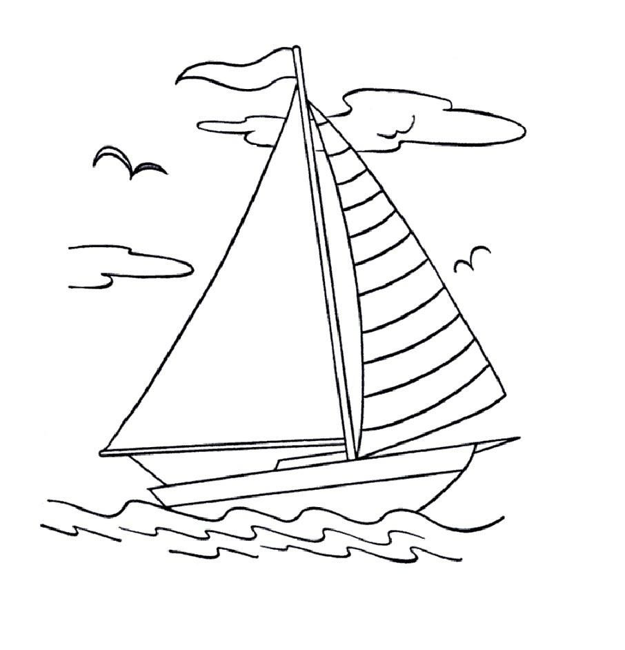 906x942 Simple Boat Coloring Page Simple Colorings