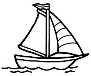 300x250 Simple Boat Coloring Pages Color Bros