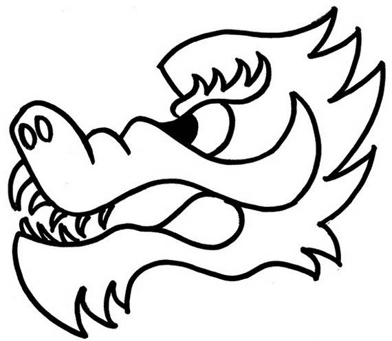 570x496 Chinese Dragon Boat Festival Coloring Pages
