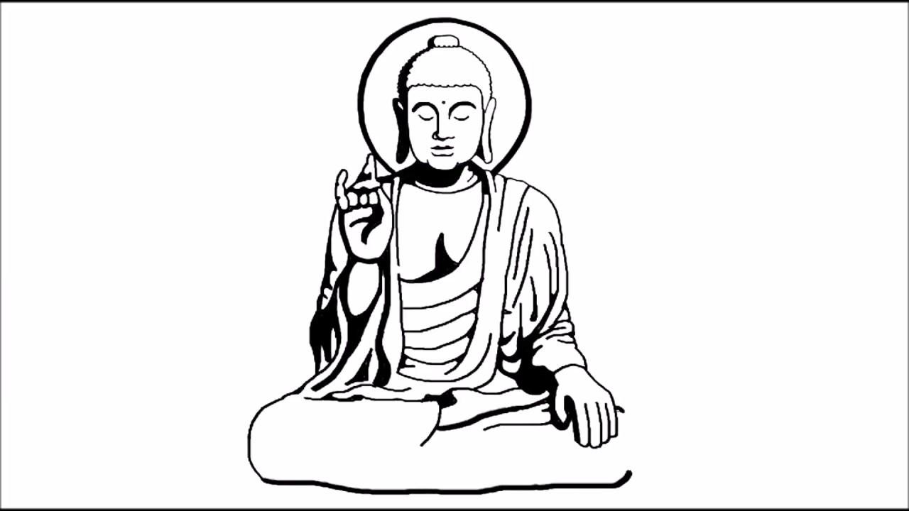 1280x720 How To Draw Gautam Buddha Step By Step