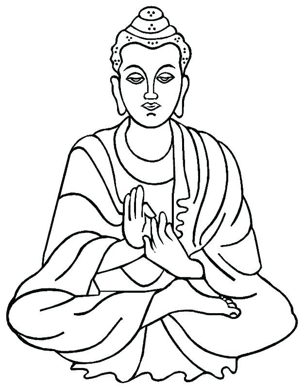 626x800 Buddha Coloring Page