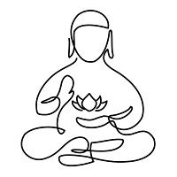 200x200 Buddha Tattoo Dot Work