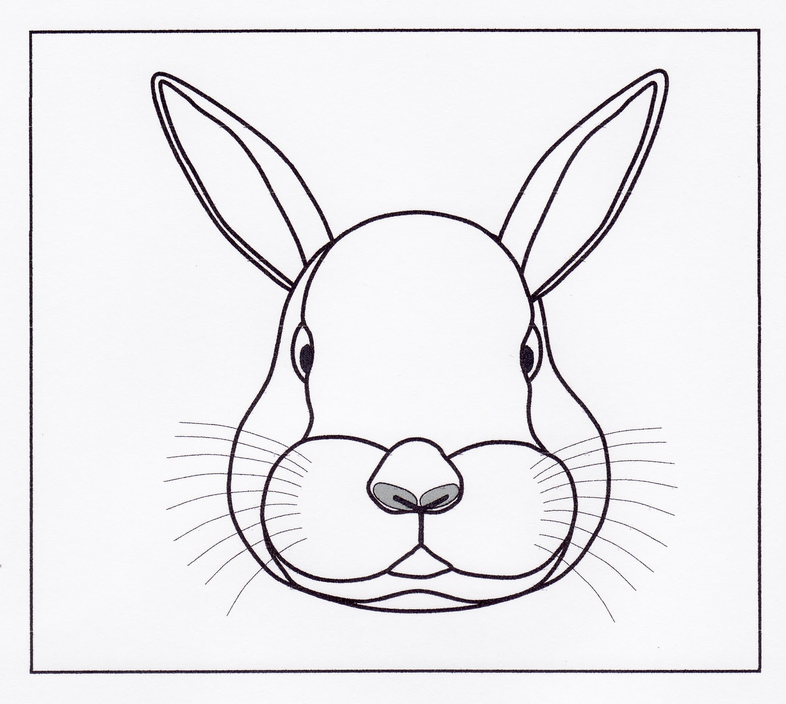 Easy Bunny Face Drawing at GetDrawings | Free download