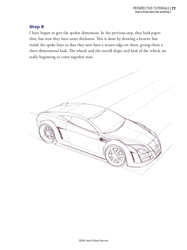 638x851 How To Draw Cars Fast And Easy