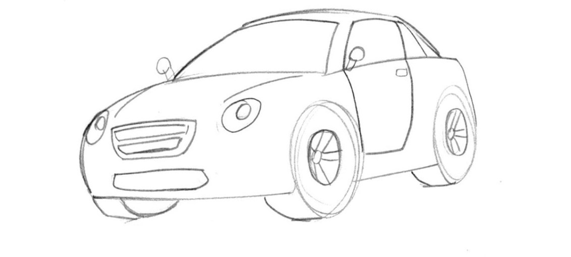 Easy Car Drawing At Getdrawings Com