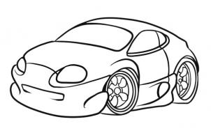 302x191 Pictures Simple Car Drawing,
