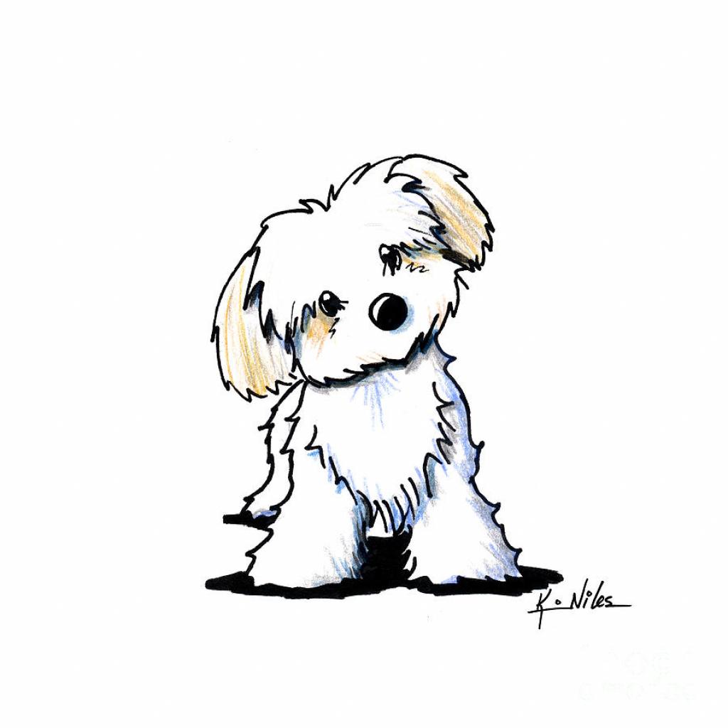 Easy Cartoon Dog Drawing