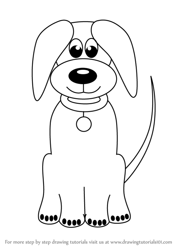 567x800 learn how to draw cartoon dog easy animals for kids step by step