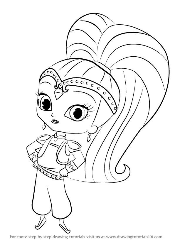 596x842 Learn How To Draw Shine From Shimmer And Shine (Shimmer And Shine
