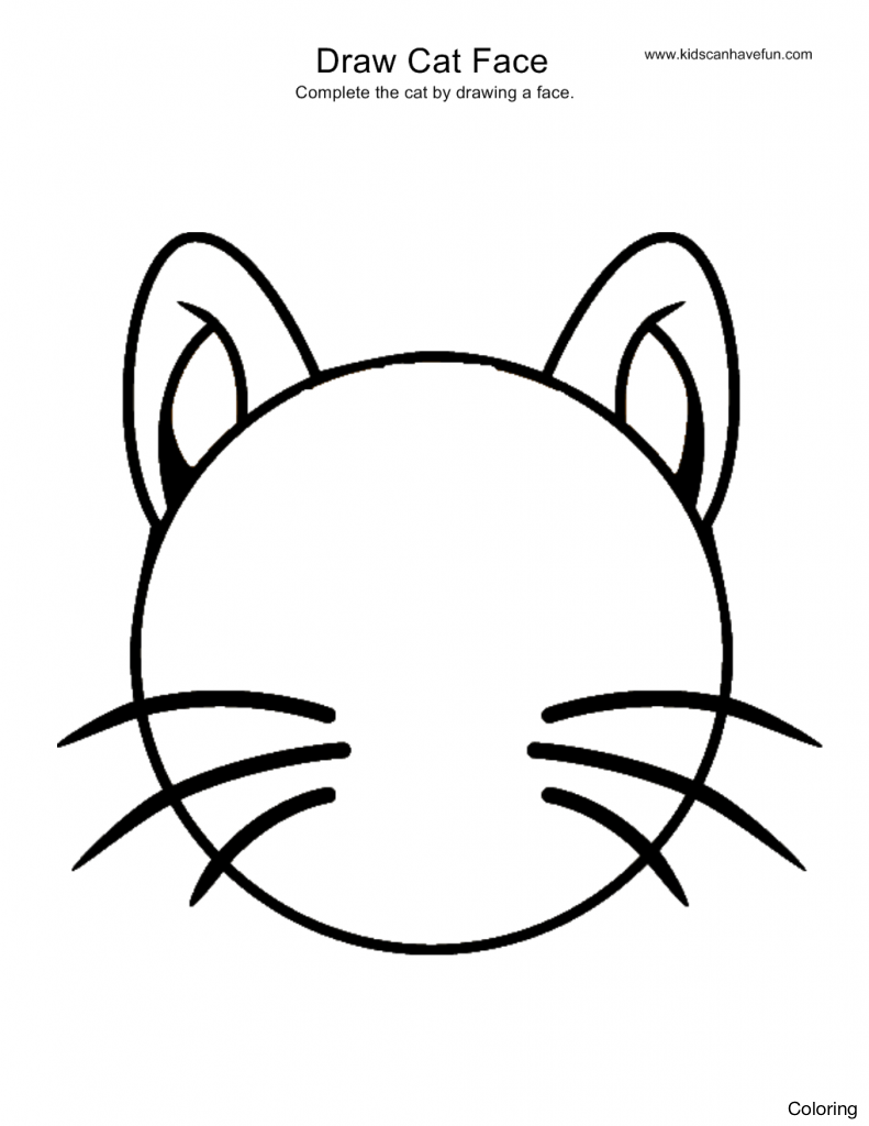 Easy Cat Drawing For Kids at GetDrawings.com