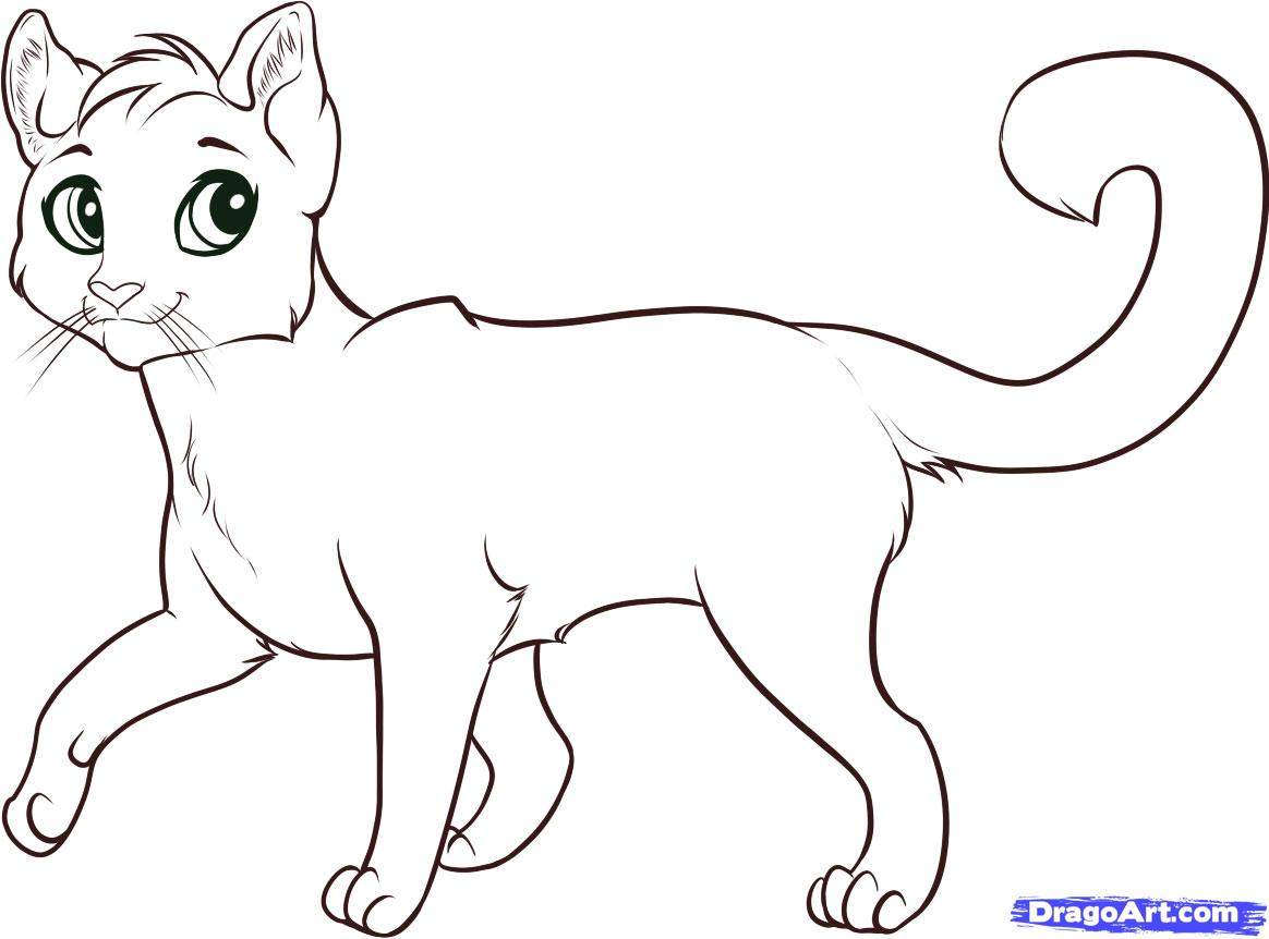 1164x862 Drawn Feline Easy Draw