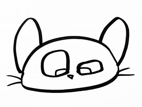 Line Drawing Cat Face : How to draw a realistic cat drawing kitty youtube