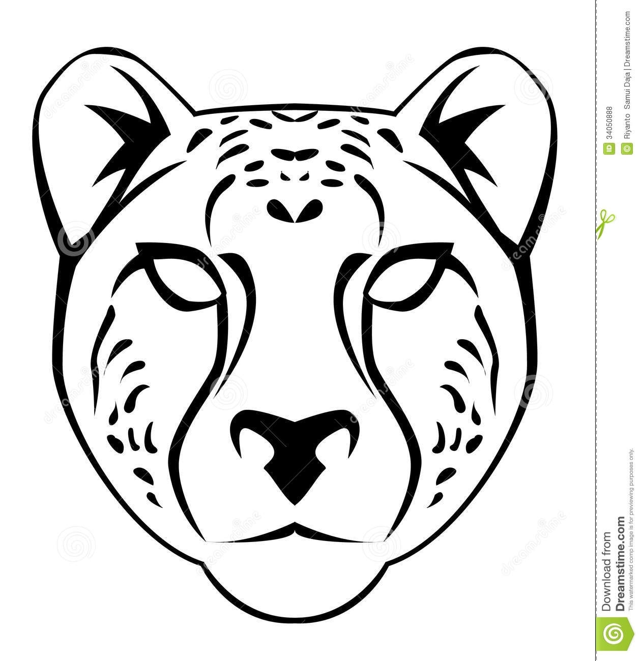 Easy Cheetah Drawing at GetDrawings | Free download