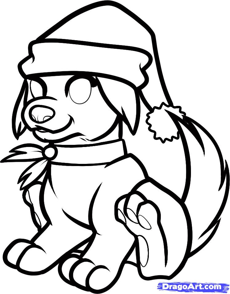 748x958 christmas drawings step by step christmas dog step 8 district