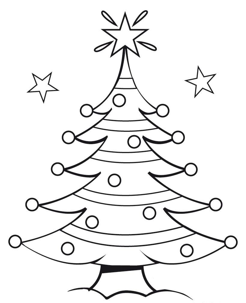 Easy Christmas Tree Drawing