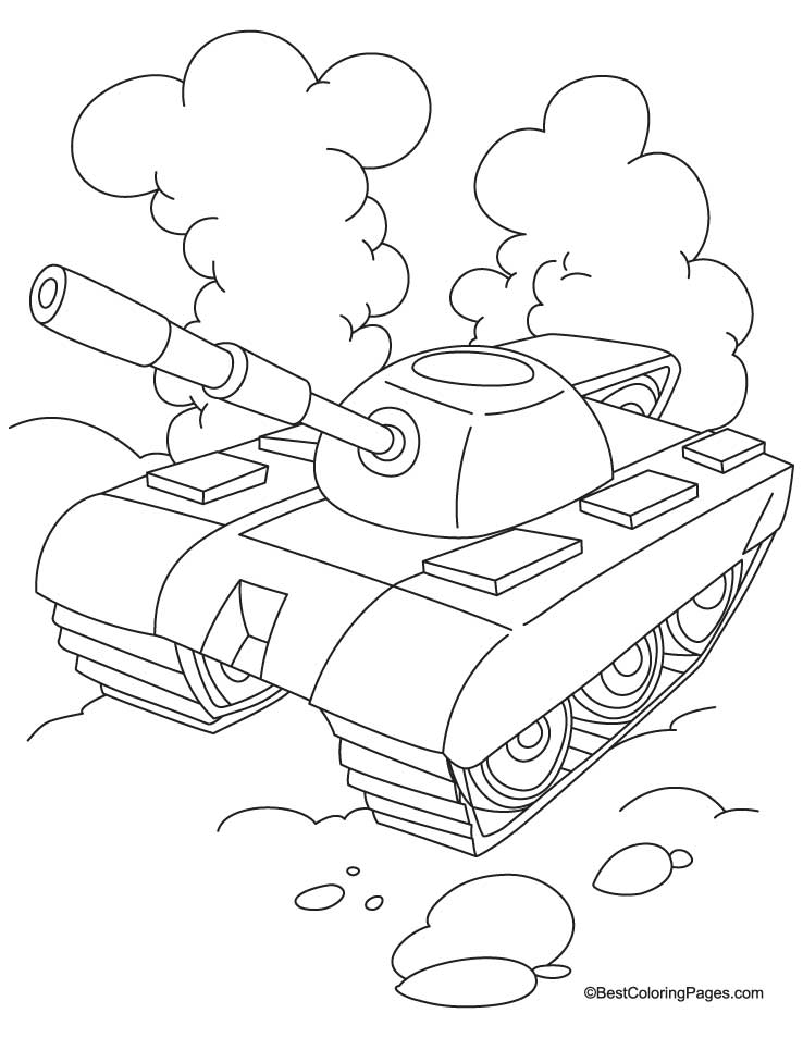 738x954 Tank With Cloud Coloring Page Download Free Tank With Cloud