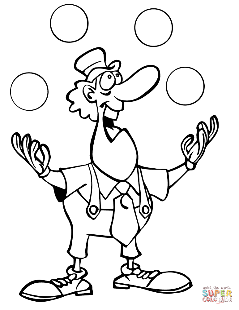 773x1000 Clown Coloring Pages Free Printable Pictures