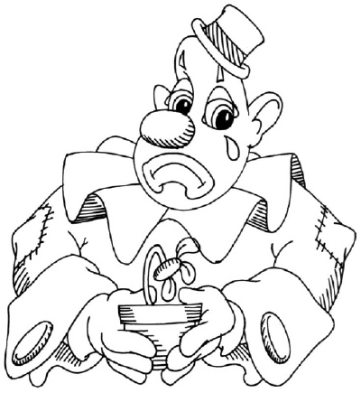 400x435 How To Draw A Sad Clown Cartoon Howstuffworks