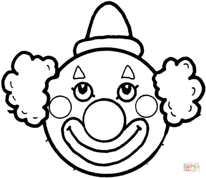 720x622 Coloring Pages Coloring Pages Draw A Clown Easy To Clowns