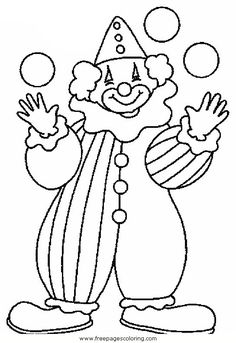 236x343 Coloring Pages Coloring Pages Draw A Clown Le Circus Coloring