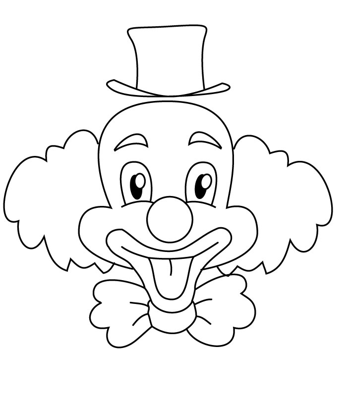 700x800 Coloring Clown