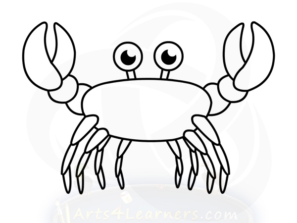 Easy Crab Drawing at GetDrawings.com | Free for personal ...  Easy Crab Drawi...